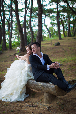 Nice natural location for pre wedding in amongst the trees of Zakimi jo castle